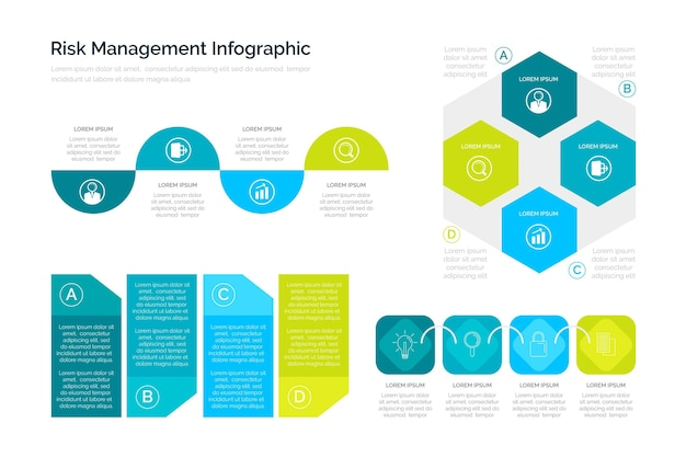Infografía de gestión de riesgos vector gratuito