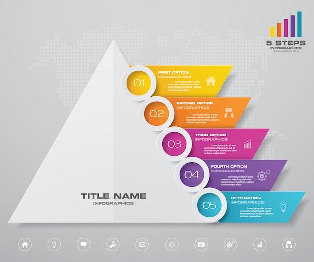 Infografía de gráfico de pirámide Vector Premium