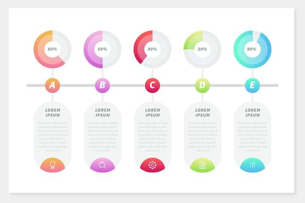 Infografía harvey ball vector gratuito