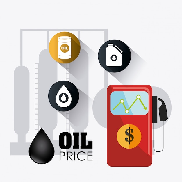 Infografía industrial del petróleo y el petróleo vector gratuito