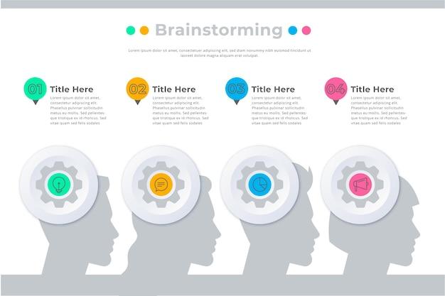 Infografía de lluvia de ideas vector gratuito