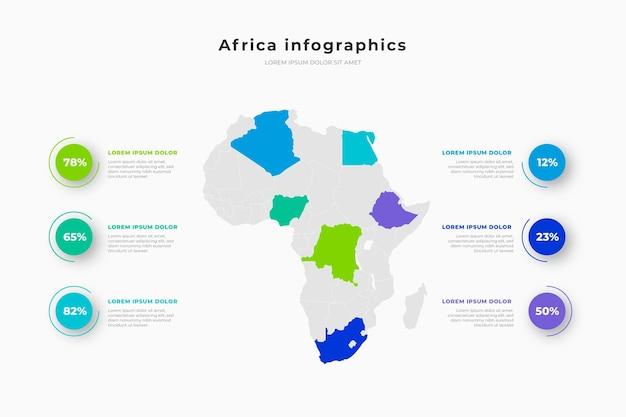 Infografía de mapa de áfrica vector gratuito