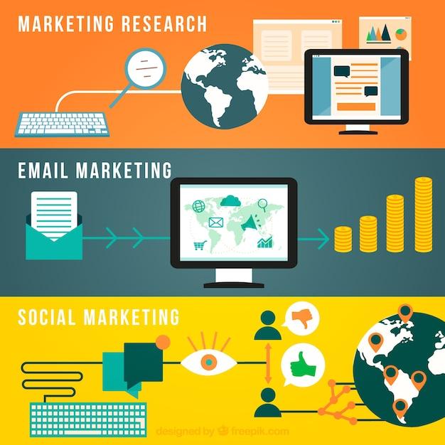 Infografía marketing Vector Gratis