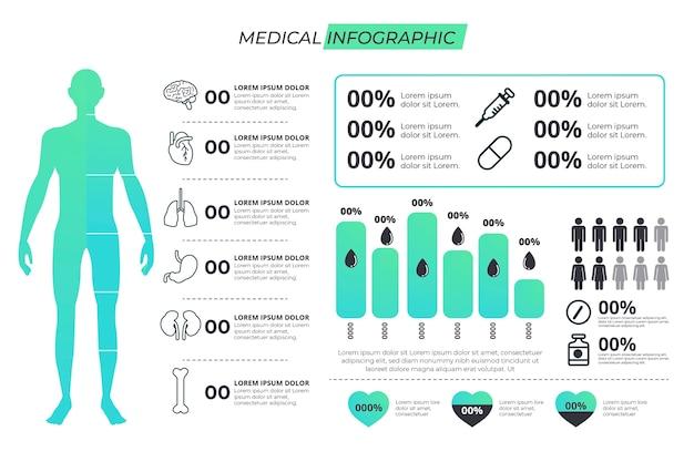 Infografía médica vector gratuito