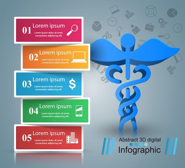 Infografia medica Vector Premium