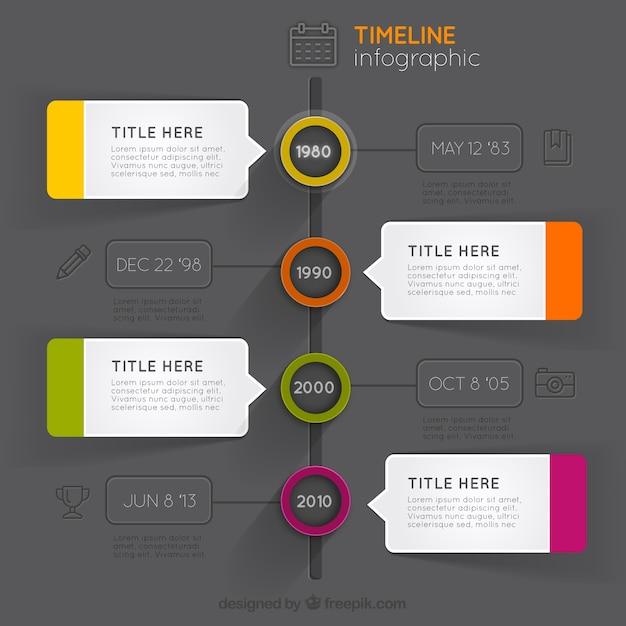 Infografía moderna de línea del tiempo | Descargar Vectores gratis