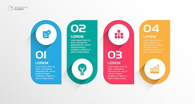 Infografía moderna de negocios Vector Premium