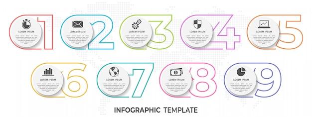 Infografía moderna Vector Premium