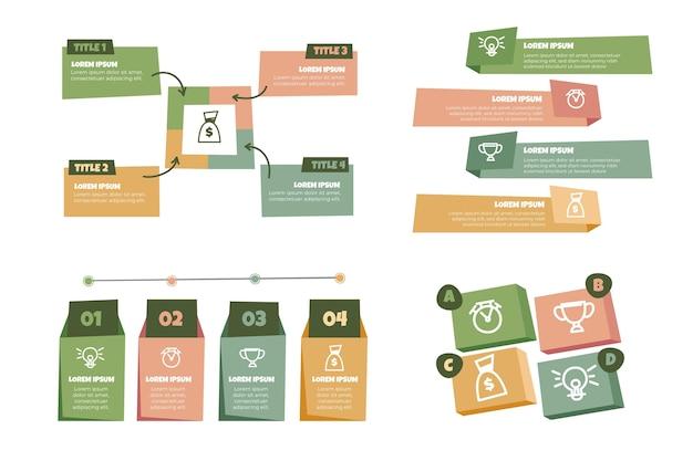 Infografía de negocios dibujada a mano Vector Premium