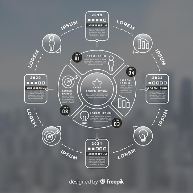 Infografía de negocios con foto vector gratuito