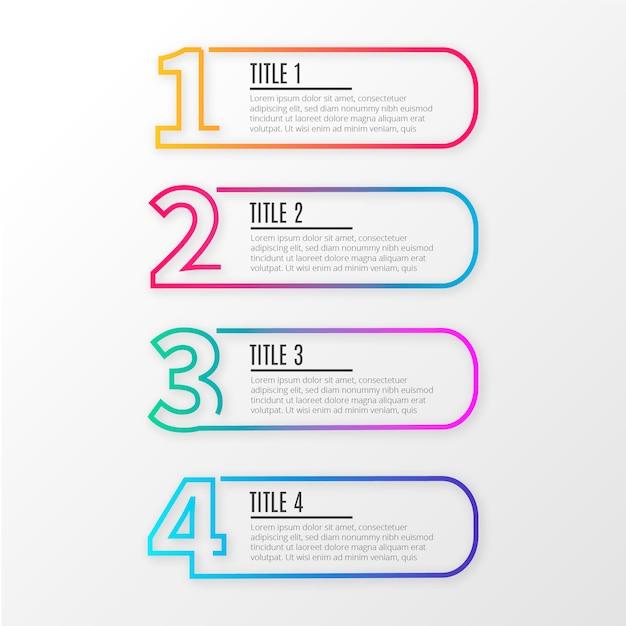 Infografía de negocios de línea moderna. vector gratuito