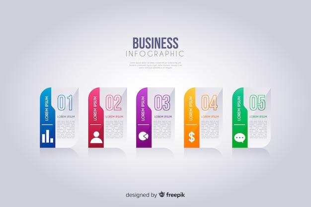 Infografía para negocios vector gratuito