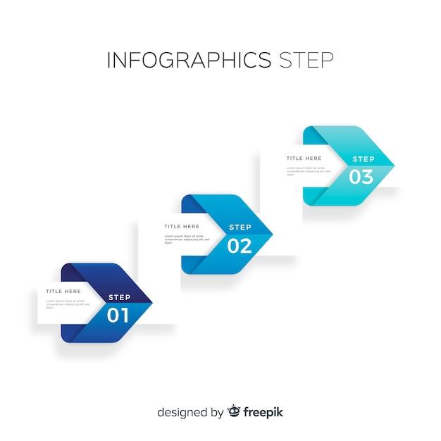 Infografía por pasos vector gratuito