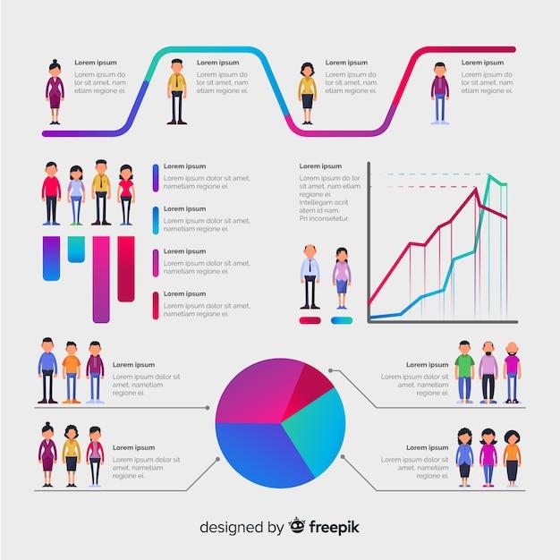Infografía de personas vector gratuito