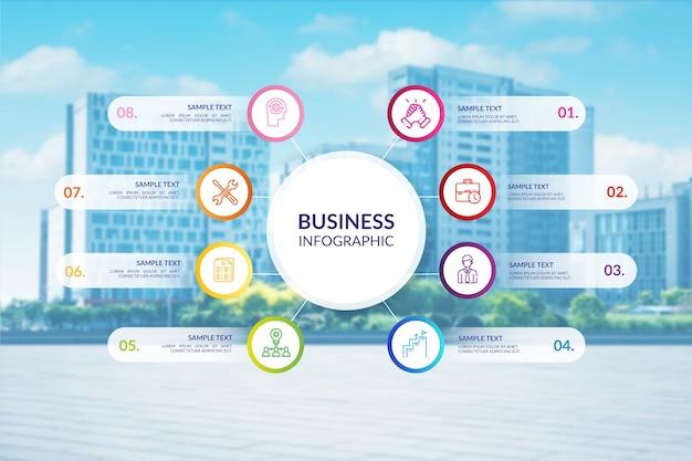 Infografía profesional de negocios con foto vector gratuito