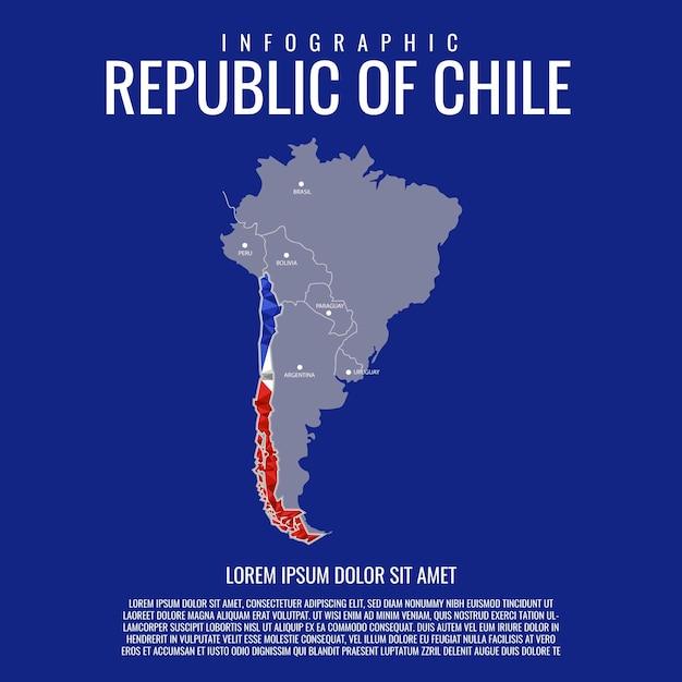 Infografía república de chile Vector Premium