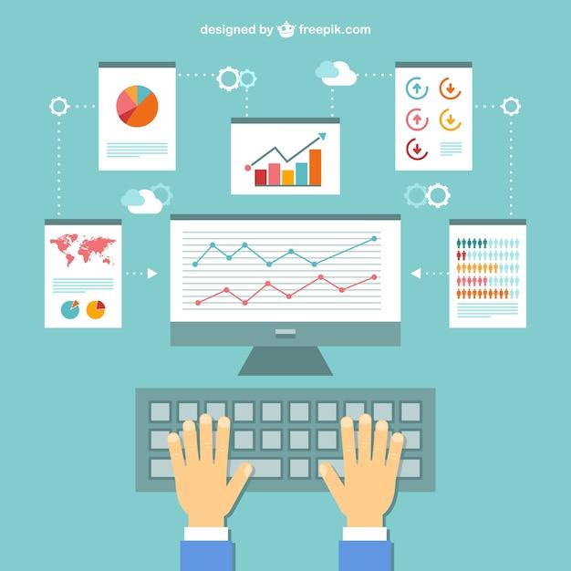Infograf a trabajo en la oficina descargar vectores gratis for Follando en la oficina gratis