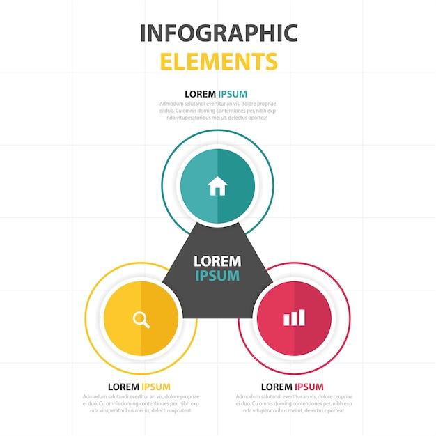 Infografía triangular con círculos | Descargar Vectores gratis