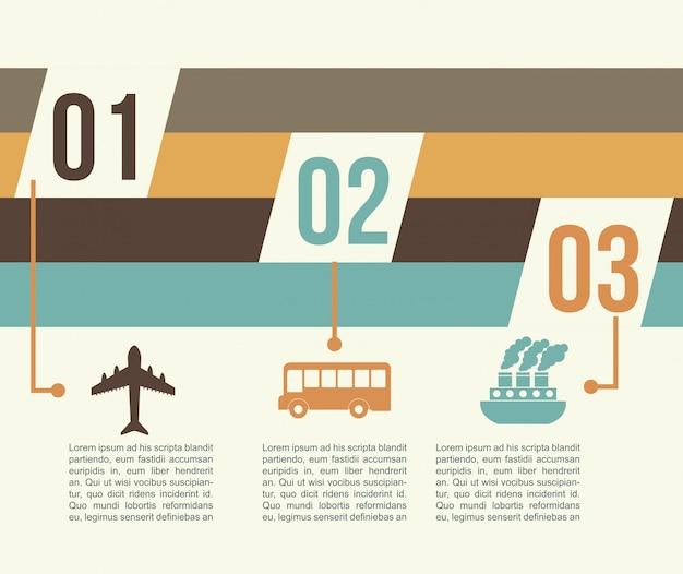 Infografía de viajes sobre fondo blanco Vector Premium