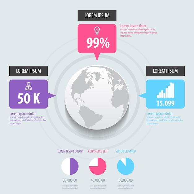 Infografía. Vector Premium
