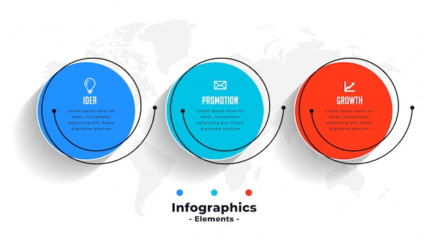 Infografías creativas para visualización de datos empresariales vector gratuito