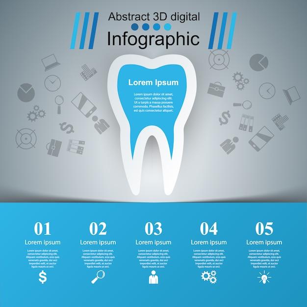 Infografías de salud Vector Premium