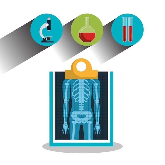 Informar el servicio médico de los iconos de rayos x | Descargar ...
