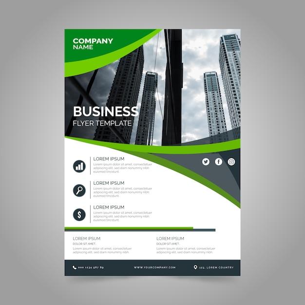 Informe comercial de la empresa con foto vector gratuito