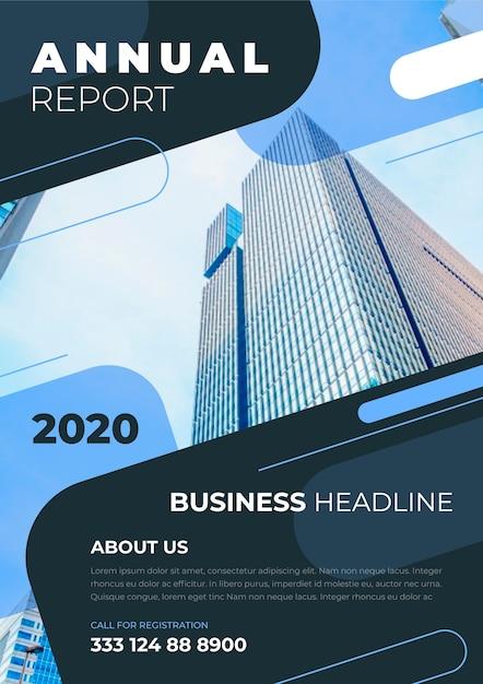 Informe plantilla empresarial 2020 vector gratuito