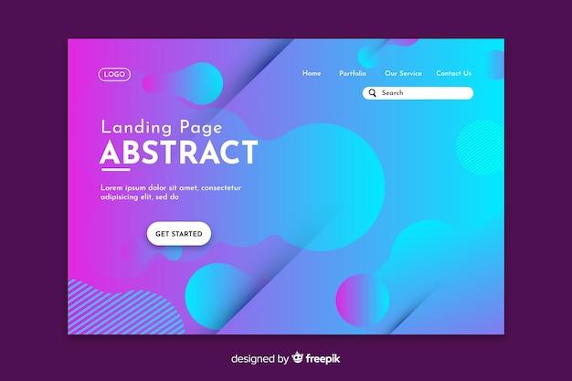 Inicio de la página de inicio azul abstracta vector gratuito