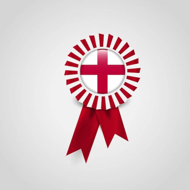 Insignia de la bandera de la cinta de la bandera de inglaterra reino unido vector gratuito