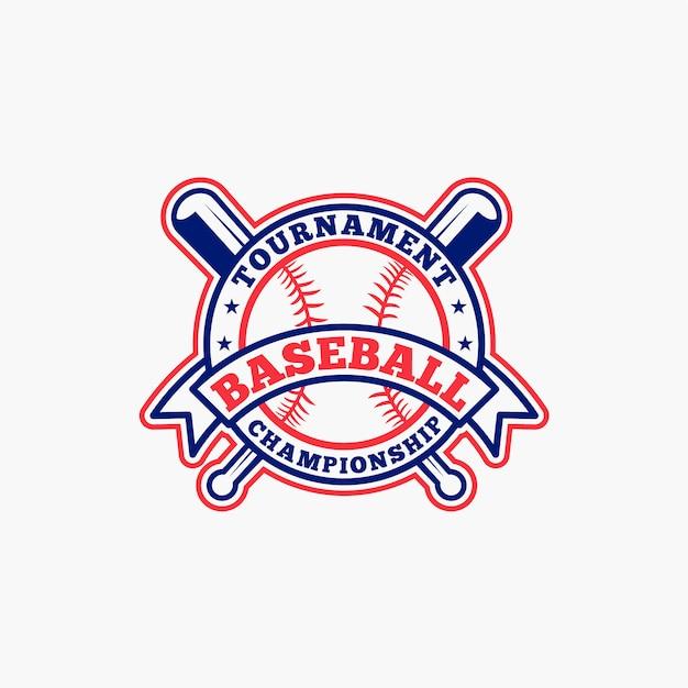 Insignia de béisbol Vector Premium