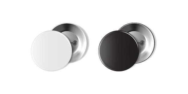 Insignia blanca y negra en blanco aislada sobre fondo blanco Vector Premium