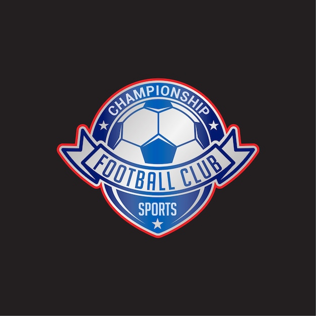 Insignia del club de fútbol Vector Premium