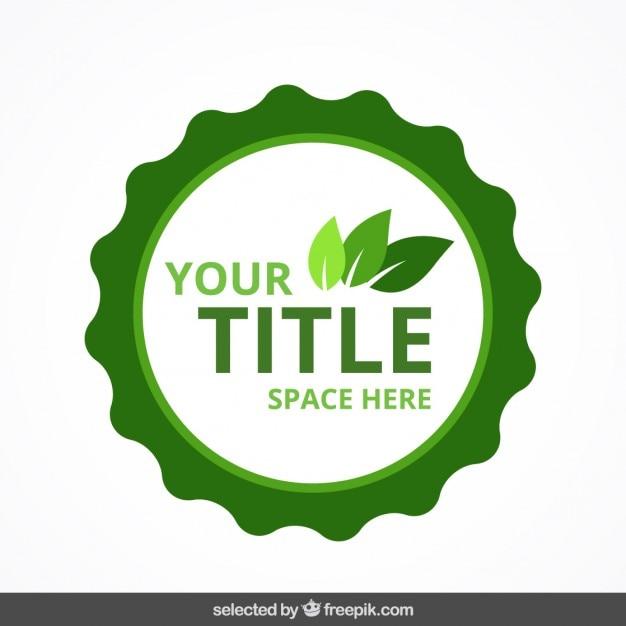 Insignia eco circular vector gratuito