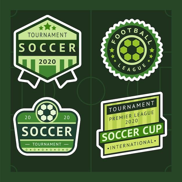 Insignia de fútbol verde Vector Premium
