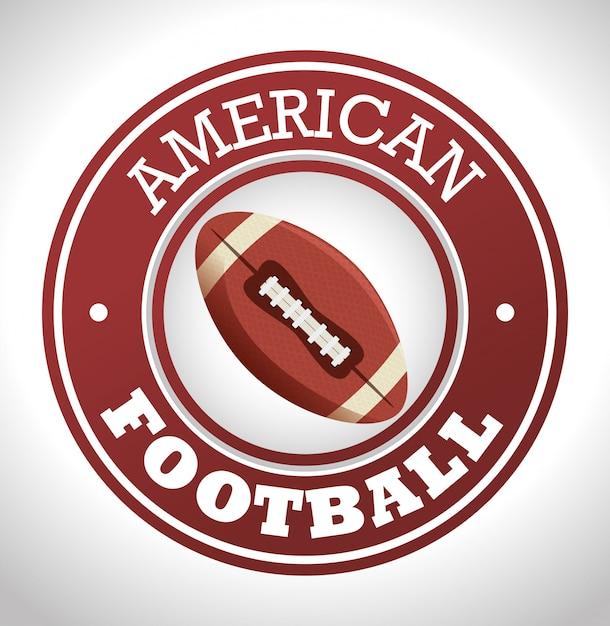 Insignia de logotipo de deporte de fútbol americano vector gratuito