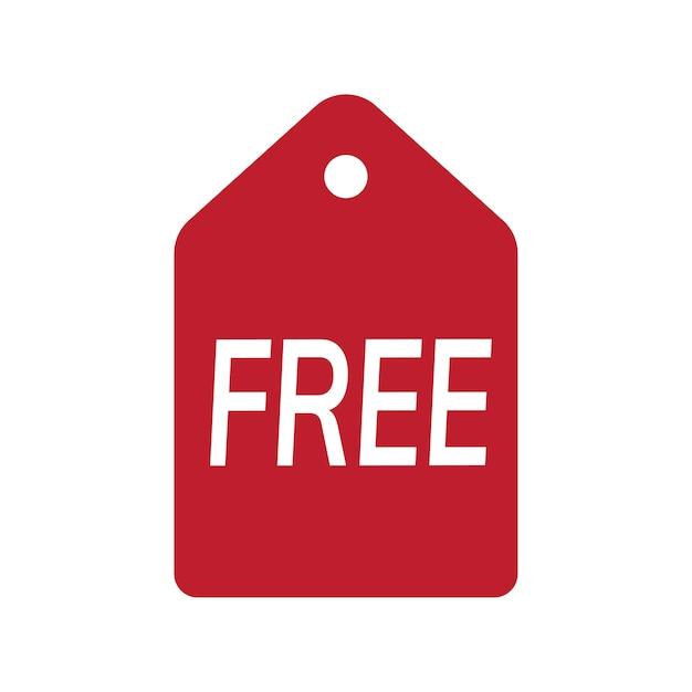 Insignia promocional gratis rojo vector vector gratuito