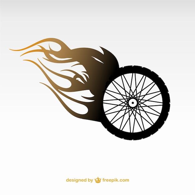 Insignia de rueda de motocicleta vector gratuito