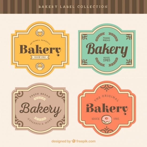 Insignias de panadería con marcos estilo retro | Descargar Vectores ...