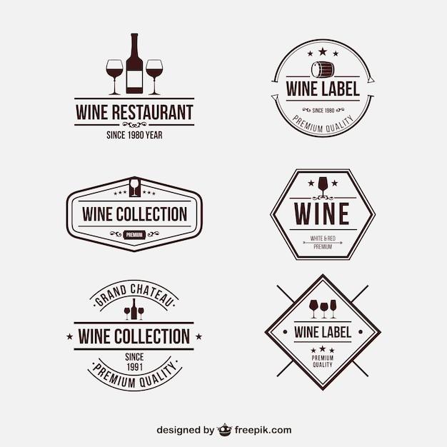 Insignias retro vino Vector Premium