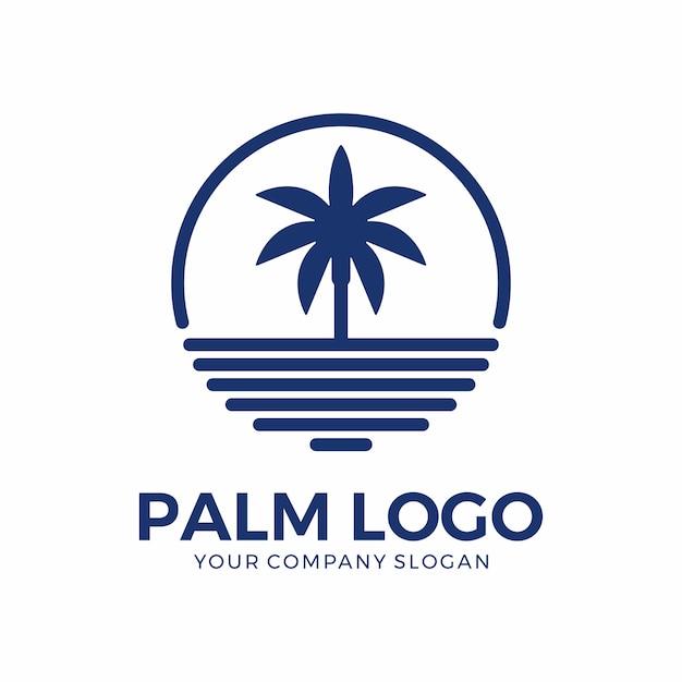 Inspiración del diseño del logo de palm Vector Premium