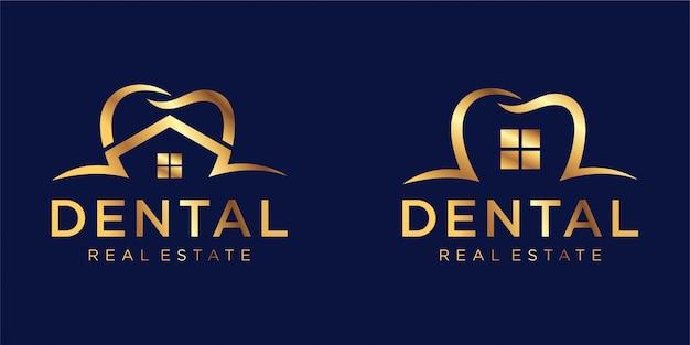Inspiración de diseño de logotipo dental Vector Premium