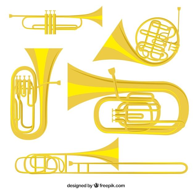Instrumentos de oro vector gratuito