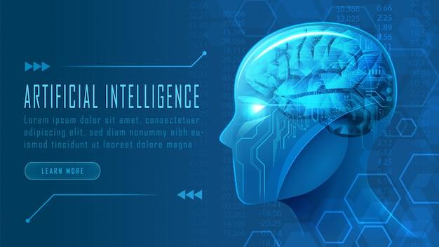 Inteligencia artificial Vector Premium