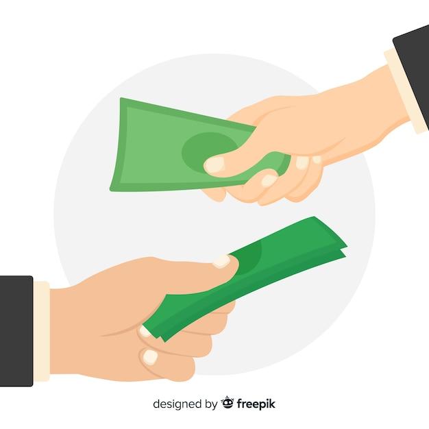 Intercambio de rupias vector gratuito