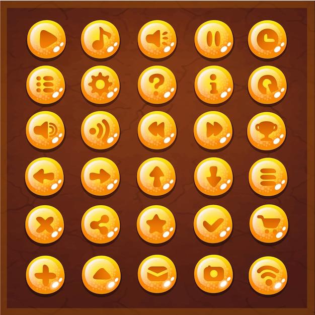 Interfaz de botones de juego ui Vector Premium