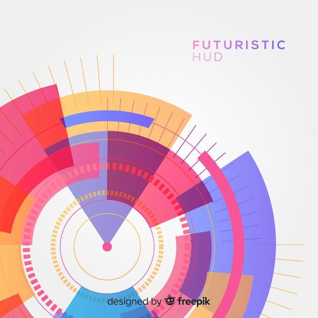 Interfaz hud futurista con estilo de degradado vector gratuito