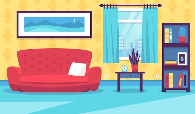 Interior de la casa - fondo para videoconferencia vector gratuito
