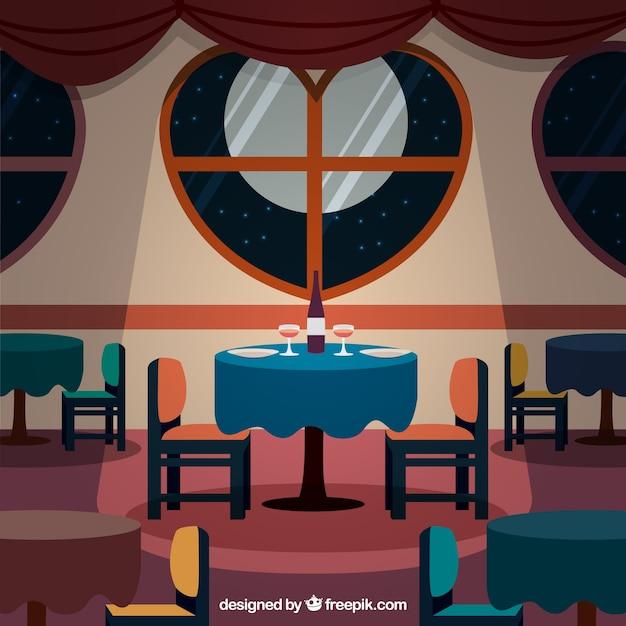Interior de restaurante elegante descargar vectores premium